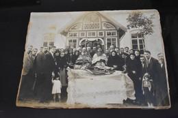 Photo On Cardboard Burial Of A Priest Funeral Inmormantare Preot Lipovean Romania - Ancianas (antes De 1900)