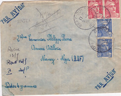 22432# MARIANNE GANDON LETTRE Obl BRAY DUNES NORD 1948 Pour NIAMEY NIGER AOF - 1921-1960: Periodo Moderno