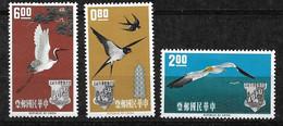 Formose Taïwan N°434 à 436 Oiseaux  Neufs  * *  Et *  B/TB= MNH/MH F/VF    Voir Scans Soldé  Le Moins Cher Du Site ! ! ! - Neufs