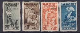 Saargebiet MiNr. 122-125 * - Unused Stamps