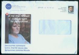 Enveloppe Destineo Société De Saint-Vincent-de-Paul Voyagée - Prêts-à-poster: Other (1995-...)