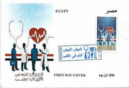 FDC: Egypt 2020 Medical Staff Against Coronavirus COVID -19 White Army - Ziekte