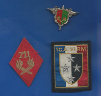 Lot  Insigne Et Tissu   S.E.A   Service Des Essences Des Armées   711 CME      Fabricant:  Drago - Hueste