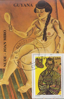 Bloc  Feuillet   GUYANA    Oeuvre  De   MIRO   1990 - Moderni