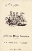 Menu - Rotisserie Reine Pédauque - Bruxelles  - Samedi 4 Juin 1955 - Menus