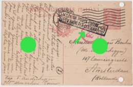 Guerre 14/18 De Torino à Amsterdam Griffe De Censure  Censura Bologna 1917 - Andere