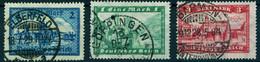 """Deutsches Reich 1924-27 Michel-# 364-366 """" 3 Werte 1-2-3 Mark O """" Michel 18 € - Used Stamps"""