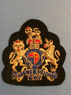 Ecusson Brodé D'uniforme Anglais - Embroidered Badge For English Uniform - Escudos En Tela