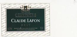 Etiquette Champagne CLAUDE LAFONT / BRUT - Champagne