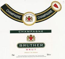 Etiquette Champagne BRUTHER (Patricia Baudry à Pargny-les-Reims) / BRUT - Champagne