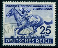 """Deutsches Reich 1942 Michel-# 814 """" Spitzenwert 25+100 Pf Blau Preis Der Dreijährigen """" Michel 17 € - Used Stamps"""
