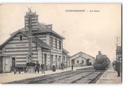 CPA 56 Questembert La Gare Et Le Train - Questembert