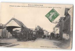 CPA 56 Carnac Ville L'express Se Rendant à La Gare De Plouharnel Carnac - Train Tramway - Carnac