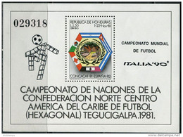 Honduras 1981. Michel Bl.#34 MNH/Luxe. Sport. Football. Soccer. World Cup. Spain-82 (Ts22) - 1982 – Espagne