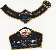Etiquette Champagne CL. De La CHAPELLE Ville-Dommange / BRUT PREMIER CRU - Champagne