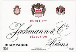 Etiquette Champagne Jackmann & Cie à Reims / BRUT SELECTION - Champagne