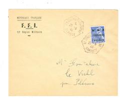 Enveloppe Avec Timbre FFI Mauriac Cantal 10c  Oblitéré St Cirgues La Loutre Corrèze - Libération