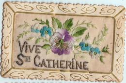CARTE BRODEE-VIVE SAINTE CATHERINE - Bordados
