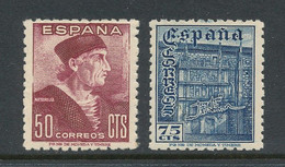 Spain 1946 Edifil # 1002-1003. Dia Del Sello, Fiesta De La Hispanidad, MNH (**) - 1931-50 Nuevos & Fijasellos