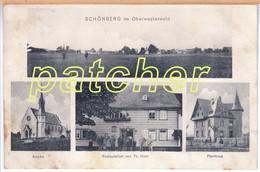 Schönberg (Höhn, Bad Marienberg, Westerwald) Gasthaus Horn, Um 1910 - Bad Marienberg