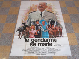 Affiche  Cinema  Le Gendarme  Se  Marie  De  Funes 120x160 Cm  N201 - Affiches