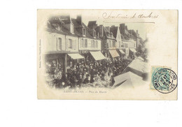 Cpa - 18 - Saint-Amand - Place Du Marché - Animation Magasin ROHMER Café Thé - Mme Vve Vilaine - 1904 - Saint-Amand-Montrond