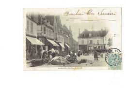 Cpa - 18 - Saint-Amand - Place Du Marché - Animation Magasin Sabots Galoches - Pivoteau Edit - Saint-Amand-Montrond