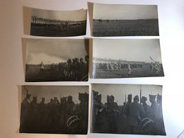 14-18 Lot 6 PHOTOS - Remise Médailles Soldats Du 75e RI - LOUVRES (80) 2 Octobre 1917 - Guerra, Militari