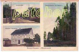 Sessenhausen (Dierdorf, Selters, Westerwald) Gasthaus Haubrich, Gel. 1935 - Dierdorf