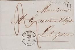 Lettre LAC Type 18 SOMERGEM 28/X/47 Boite Rurale (Q) De HANSBEKE Vers DEYNZE LOOTENHULLE +TTB - 1830-1849 (Belgio Indipendente)