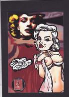 CPM Timbre Monnaie Artiste Nude Femme Nue érotisme Par Jihel Tirage Limité Signé Numéroté En 30 Exemplaires - Coins (pictures)