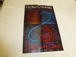Don Du Sang, Don Du Coeur, Signée François Rousseau,   Affiche Ancienne ORIGINALE  ; A 138 - Affiches
