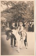 10724.  Foto Vintage Bambini Cavallo Pony Aa'50 - 13,5x8,5 - Anonymous Persons