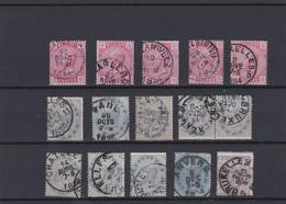 LOT N° 38 39 40 Et 41  Timbres Oblitérés - 1883 Leopoldo II