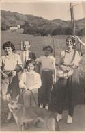 10726.  Foto Vintage Gruppo Famiglia Con Cane Aa'50 - 14x9 - Anonymous Persons