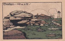 372881Brocken, 1142 M, ü, M. (sehr Kleines Falte Im Ecken) - Harzgerode