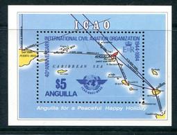 Anguilla 1984 40th Anniversary Of International Civil Aviation Organization MS VLHM (SG MS649) - Anguilla (1968-...)