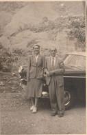 10727.  Foto Vintage Uomo Donna Femme Auto Car Targa Antigua Aa'50 - 14x9 - Anonymous Persons