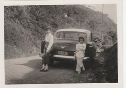 10728.  Foto Vintage Ragazze Bambine Femme Auto Car Targa Antigua Aa'50 - 11x8 - Anonymous Persons