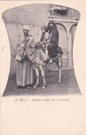 182531La Caire – Femme Arabe Sur Le Baudet, - Personas