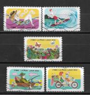 France 2020  Oblitéré Autoadhésif  N° 1874 - 1878 - 1881 - 1882 - 1884 -  Espace Soleil Liberté  - - Adhesive Stamps