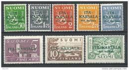 Finlande Occupation De La  Carélie Orientale1941 N°8/15 Neufs ** MNH - Emisiones Locales