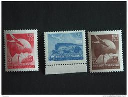 Joegoslavië Yougoslavie Jugoslavija 1949 75e Anniversaire De L'UPU Avions Yv 520-522 MNH ** - Aviones