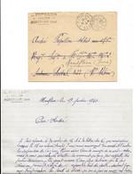 1940 MONTFLEUR (JURA) - PAPILLON TAILLEUR POUR ANDRE SOLDAT AU 171 E RI DE FORTERESSE - LETTRE L.A.S. AVEC ENVELOPPE - 1939-45