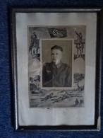 Originales Altes  Soldaten Bild Mit Rahmen.  WK II - 1939-45