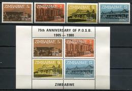 Simbabwe Zimbabwe Mi# 247-50 + Block 6 Postfrisch/MNH - Post Office Bank - Zimbabwe (1980-...)