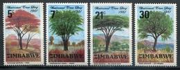 Simbabwe Zimbabwe Mi# 255-8 Postfrisch/MNH - Flora Trees - Zimbabwe (1980-...)
