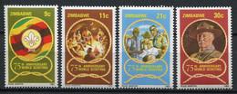 Simbabwe Zimbabwe Mi# 265-8 Postfrisch/MNH - Fauna -  Scout Movement - Zimbabwe (1980-...)