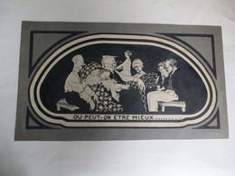 Oude TEKENING In CHINESE INKT  Op Stevig Karton OU  PEUT -ON ETRE  MIEUX,,,,,,,,,, - Arte Popular