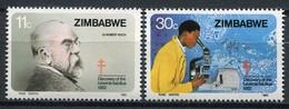 Simbabwe Zimbabwe Mi# 269-70 Postfrisch/MNH - TBC Robert Koch - Zimbabwe (1980-...)